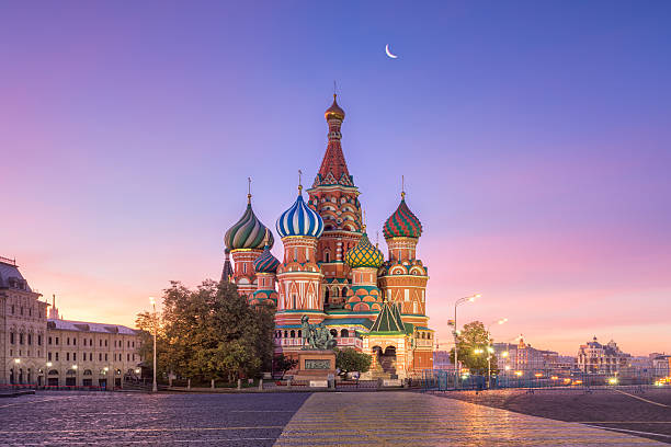 st. basil's cathedral - russia stock pictures, royalty-free photos & images