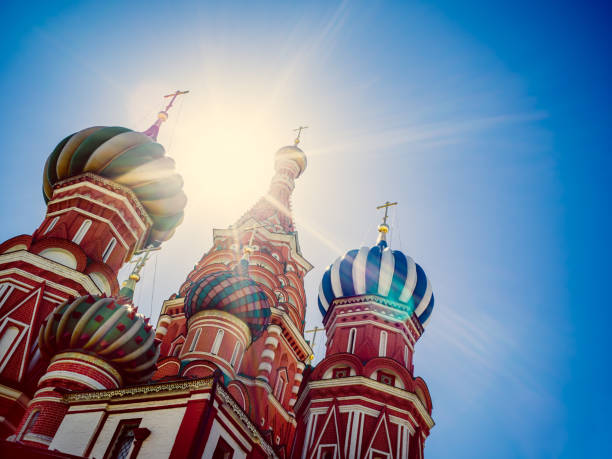 catedral de st. basil's - moscovo - fotografias e filmes do acervo