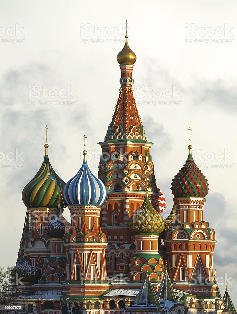 St Basil's Cathedral royalty-free stock photo