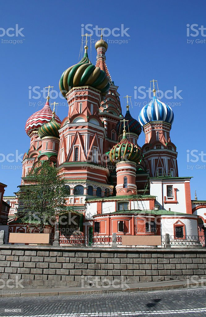 St Basil's Catheral royalty-free stock photo
