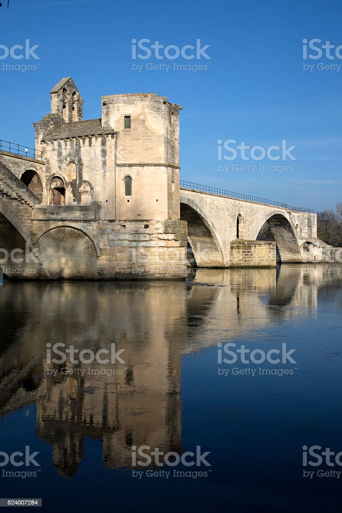 St Benezet Bridge, Avignon stock photo