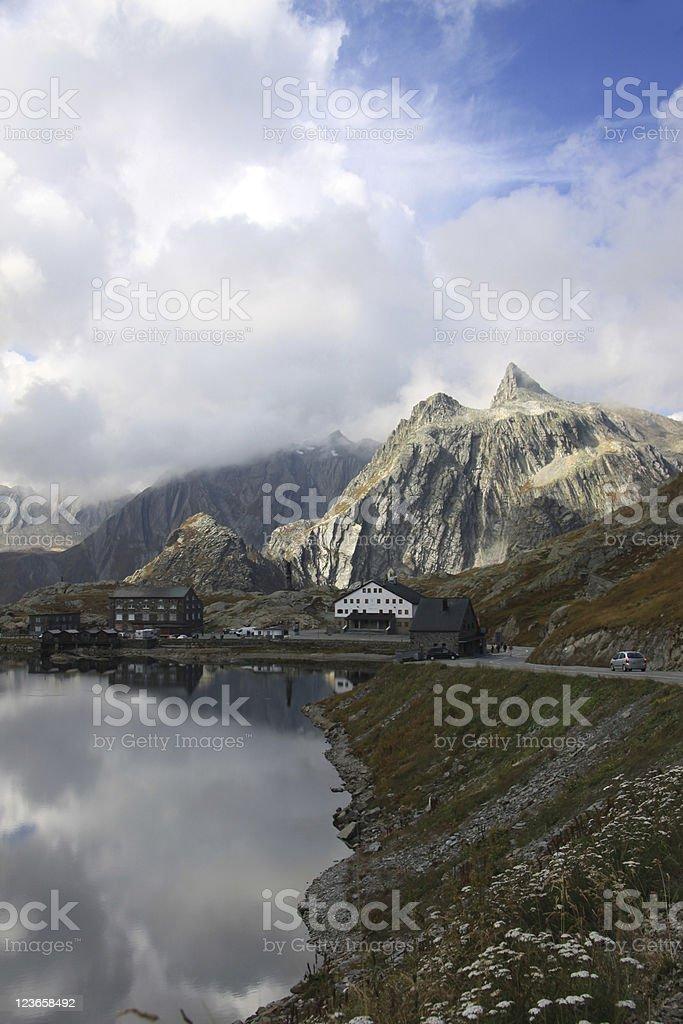 St Bernhard Mountain Pass Italy Switzerland royalty-free stock photo