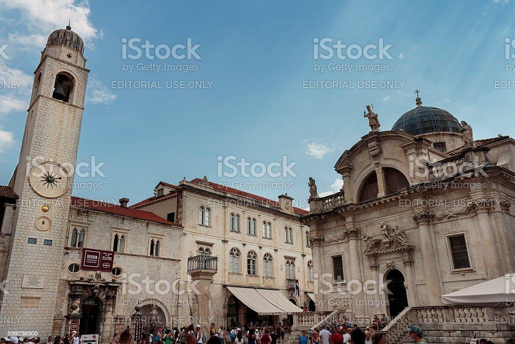 St. Blaise Church (Crkva sv. Vlaha) royalty-free stock photo