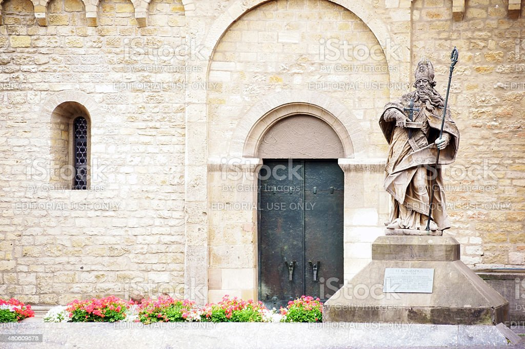 St. Boniface at the Cathedral Mainz stock photo