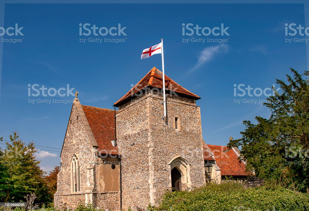 St Botolph Church in the tiny village of Culpho in Suffolk, UK royalty-free stock photo