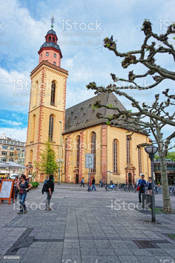 St Catherine Church in Frankfurt am Main in Germany stock photo