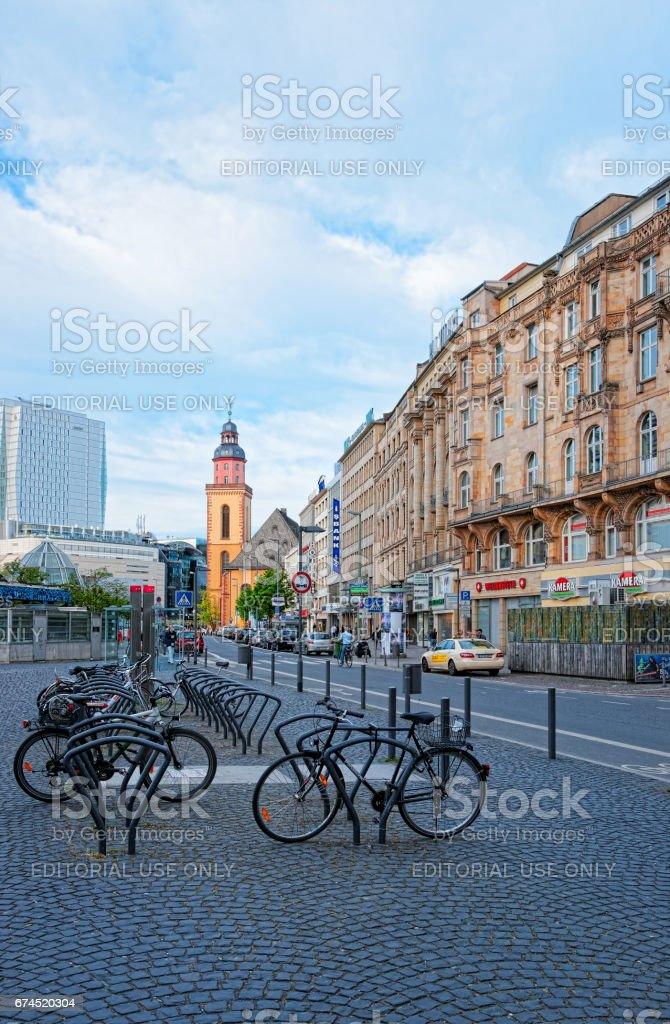 St Catherine Church in Frankfurt am Main of Germany stock photo