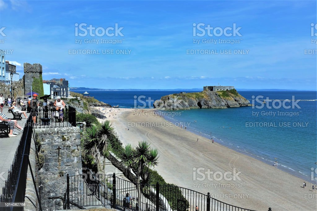 St. Catherine Island, Tenby, South Wales, UK. stock photo