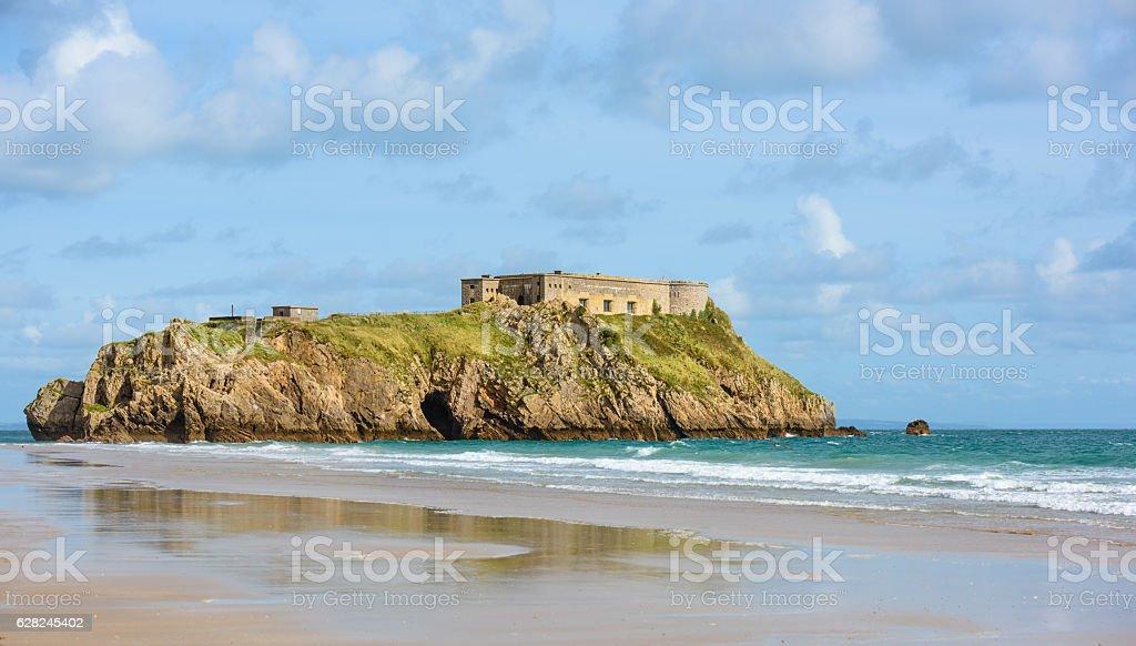 St. Catherines Island, Tenby, Beautiful Tourist Landmark stock photo