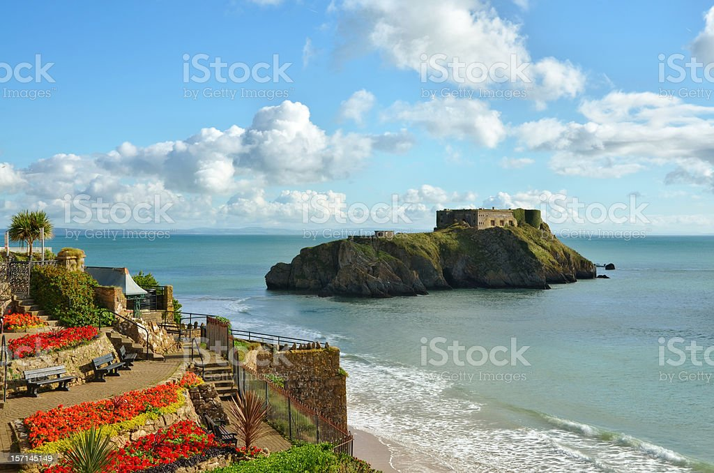 St Catherines Island, Tenby, on a summers day stock photo