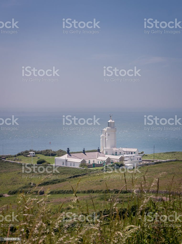 St Catherine's Lighthouse stock photo