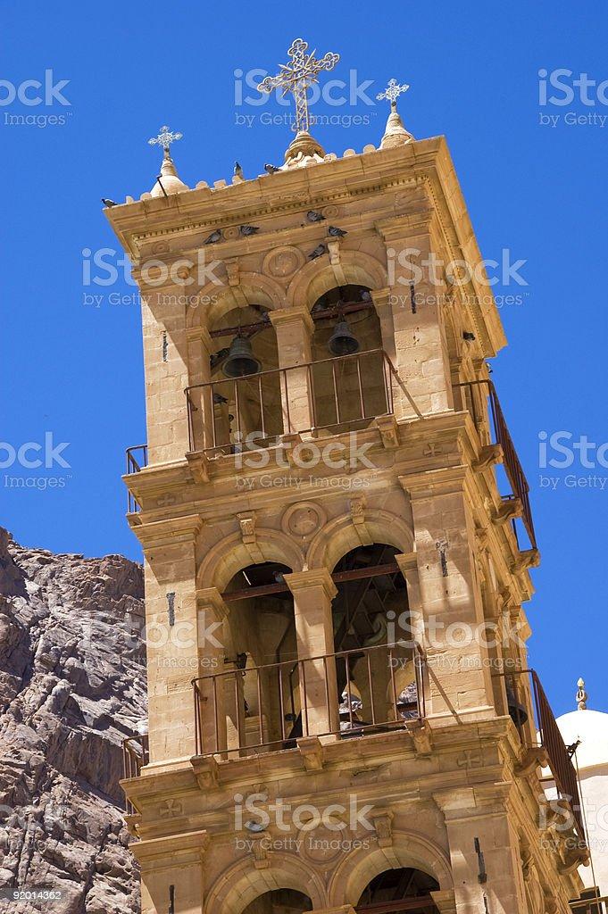 St Catherine's Monastery, Clock Tower, Mount Sinai, Egypt stock photo