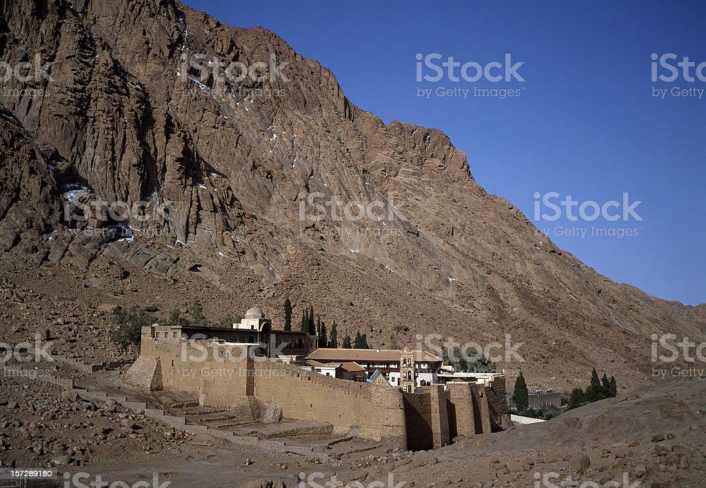 St Catherines Monastery in the Sinai Peninsula Egypt stock photo