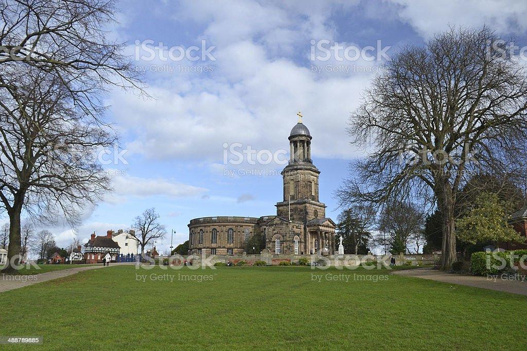 St Chads Shrewsbury stock photo