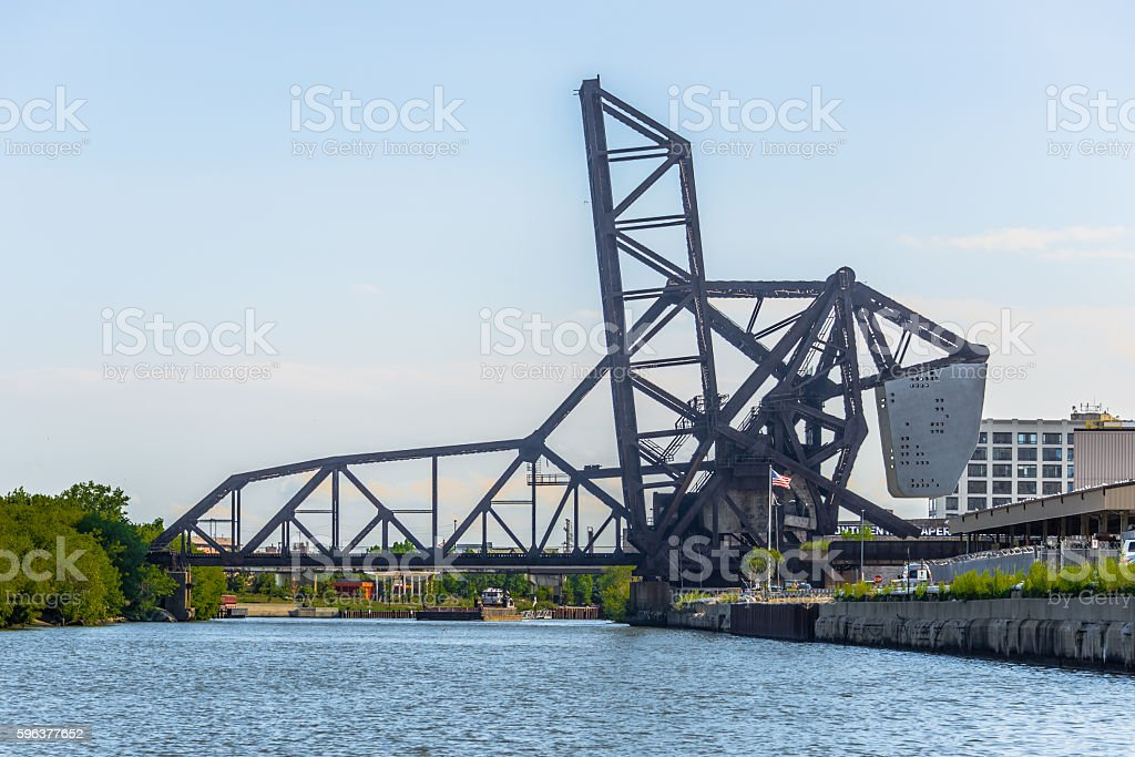 St. Charles Air Line Bascute Bridge stock photo