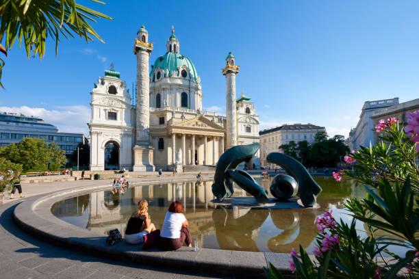 St. Charles's Church (Karlskirche), Vienna, Austria stock photo