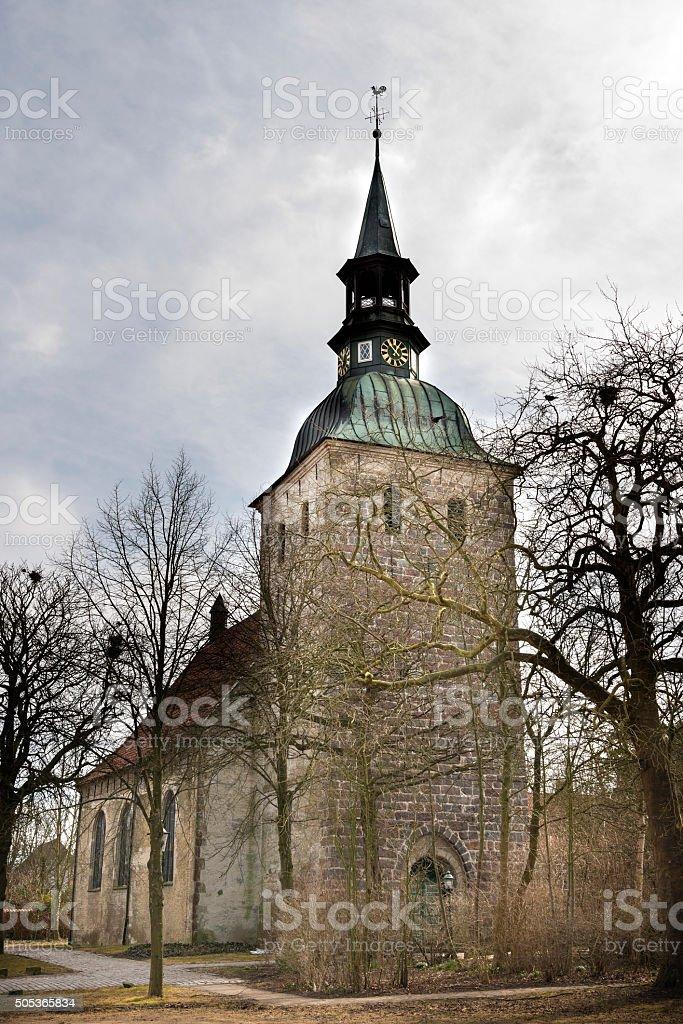 St. Christophorus Church Northern Germany stock photo