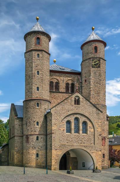 St. Chrysanthus and Daria Church, Bad Munstereifel, Germany stock photo