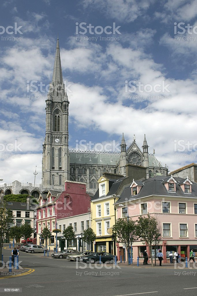 St. Coleman Cathedral, Cobh, Ireland stock photo
