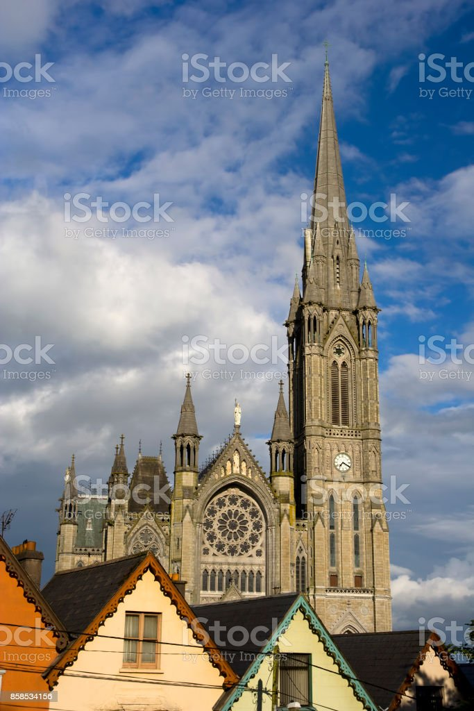 St. Colman Cathedral in Cobh stock photo