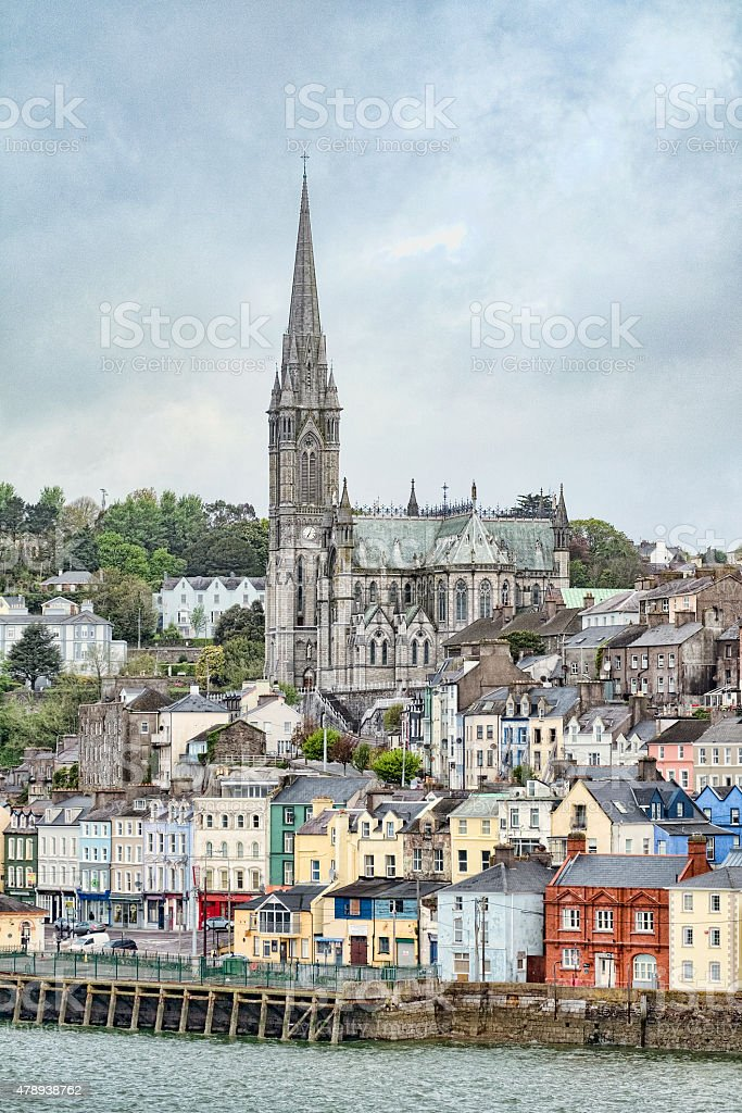 St. Colman's Cathedral in Cobh, Ireland stock photo