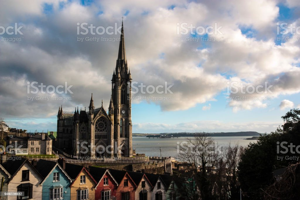 St Colman's Cathedral in Cobh, Ireland stock photo