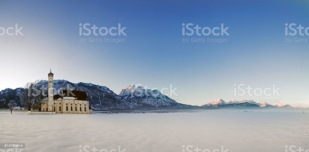 St Coloman Church, Bavaria, Germany stock photo