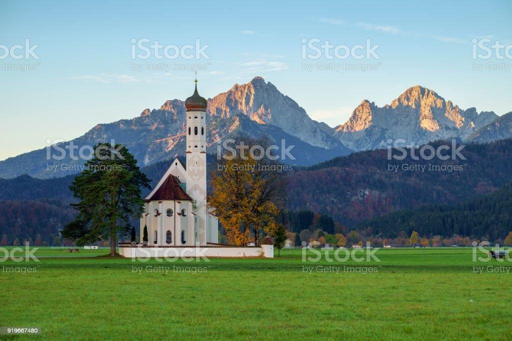 St. Coloman Church in Bavaria, Germany stock photo