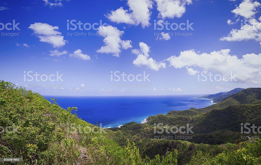 St. Croix Beach View Panoramic stock photo