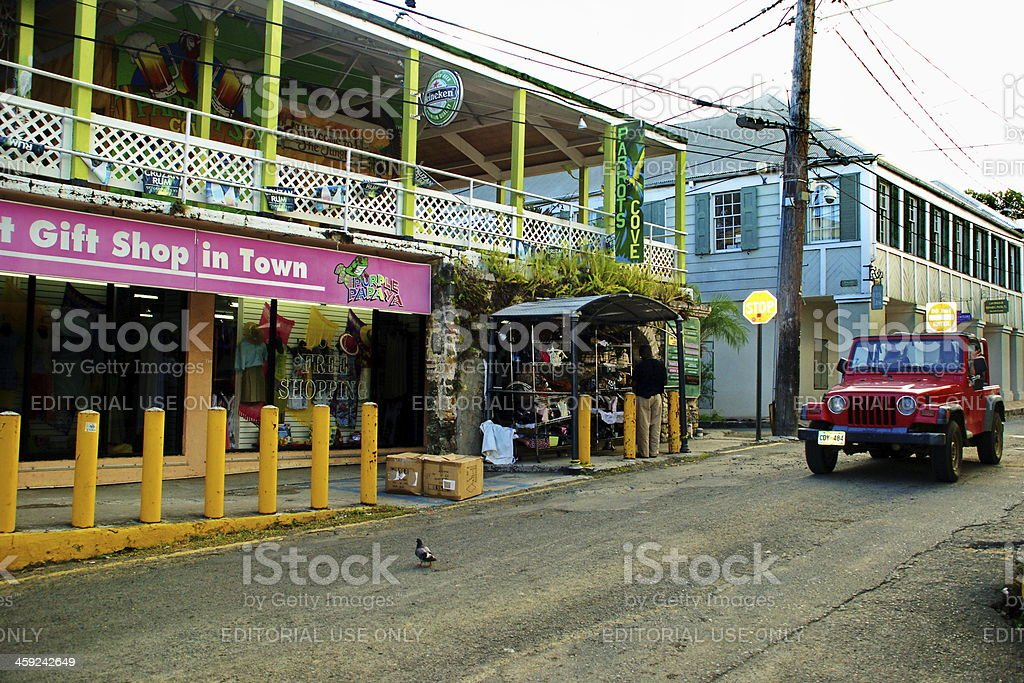 St. Croix Downtown Business stock photo
