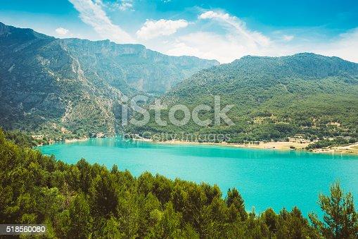 istock St Croix Lake in Gorges Du Verdon in France 518560080