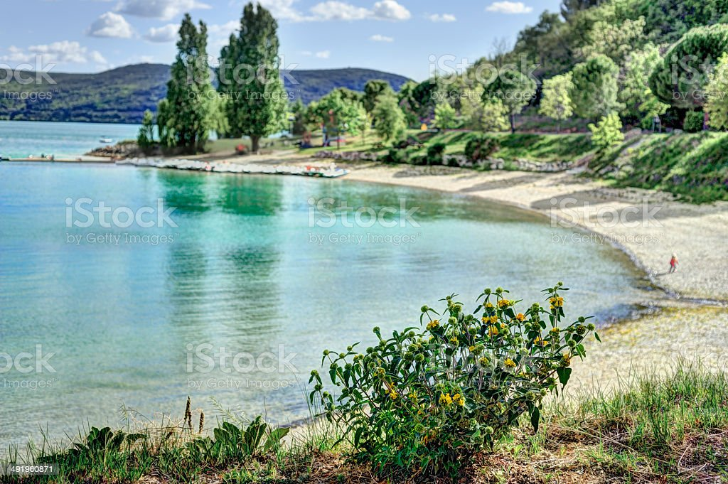 St Croix Lake, Provence, France stock photo