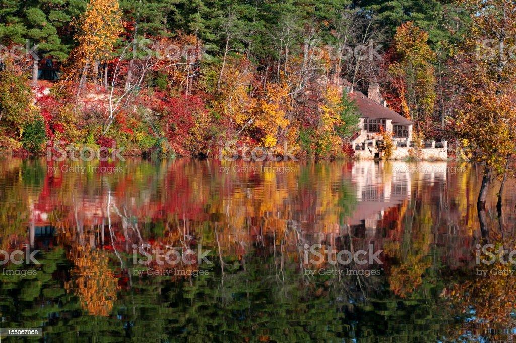 St Croix River in Autumn stock photo