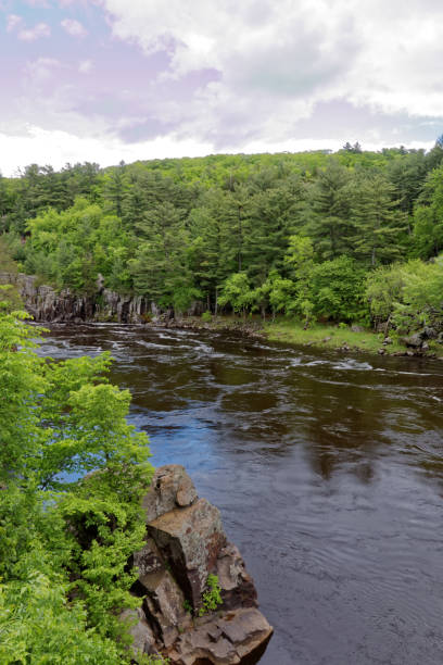 St. Croix River in Taylor's Falls stock photo