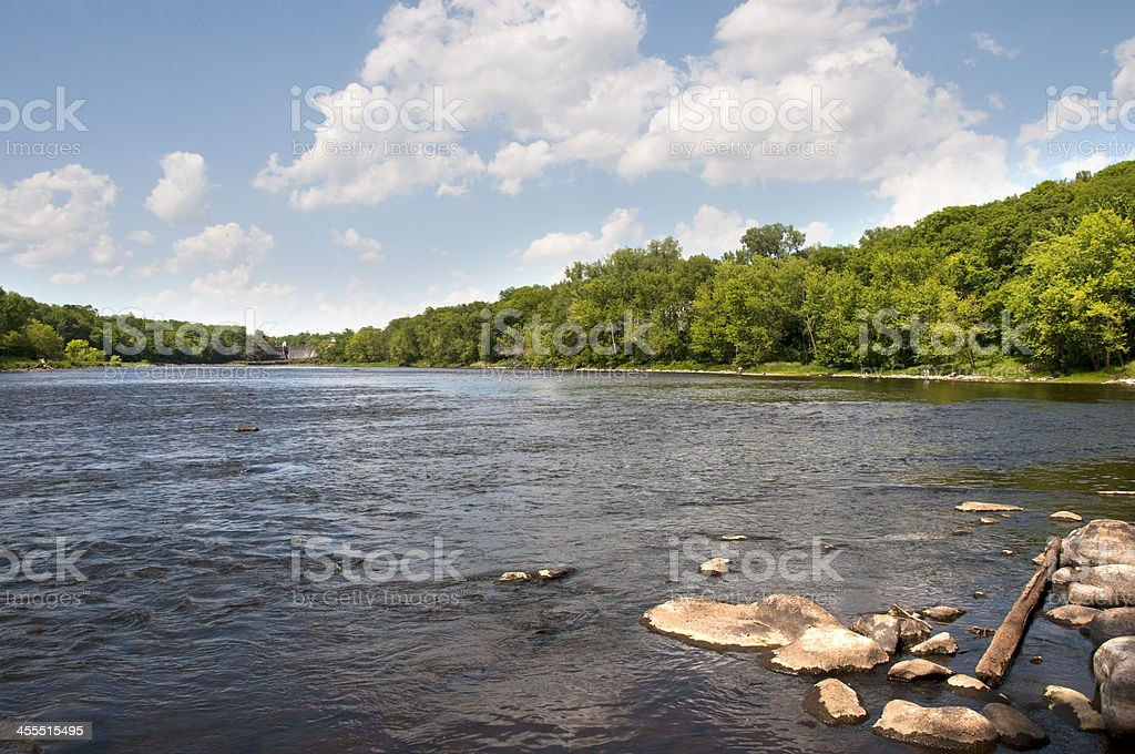 St Croix River in Wisconsin and Minnesota stock photo
