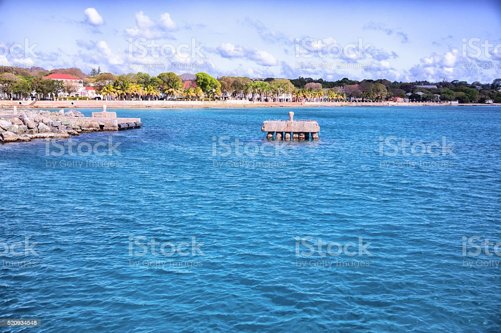 St. Croix, Virgin Islands Caribbean Pier View stock photo