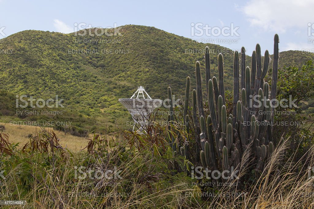 St. Croix VLBA Radio Telescope stock photo