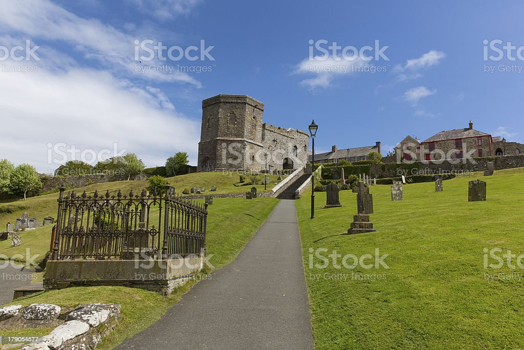 St Davids Cathedral grounds Pembrokeshire Wales royalty-free stock photo