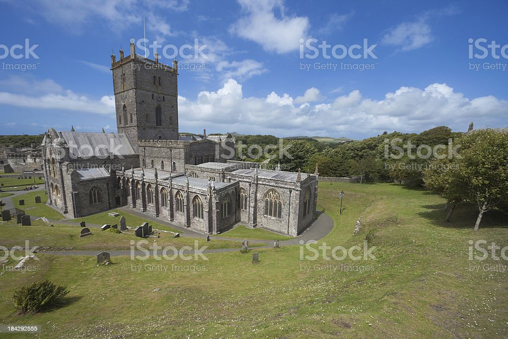 St Davids Cathedral in Pembrokeshire Wales stock photo