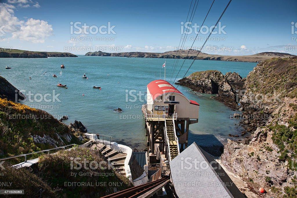 St Davids Lifeboat Station on Pembrokeshire Coast stock photo
