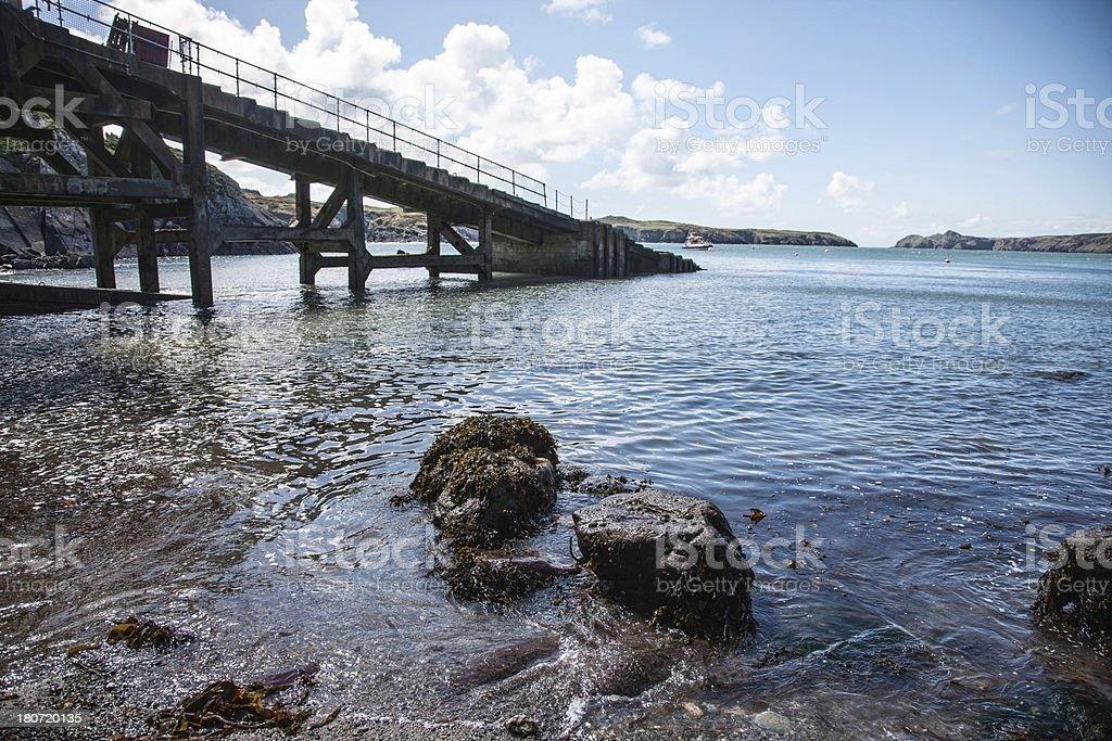 St Davids Lifeboat Station ramp Pembrokeshire Coast stock photo
