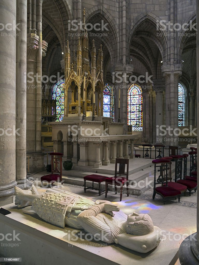 St. Denis Cathedral stock photo
