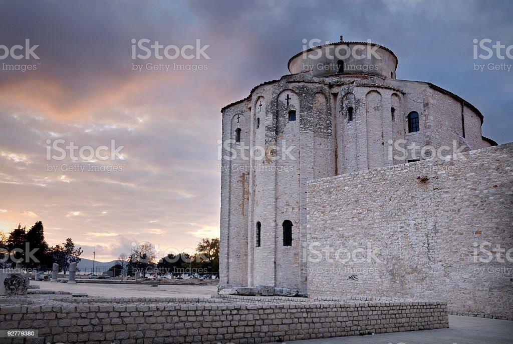 St. Donat Church, Zadar, Croatia royalty-free stock photo
