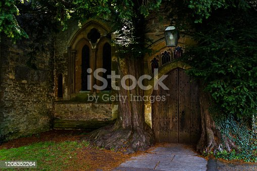 Bound by two ancient yew trees, this door looks more like a portal to a fairy realm than a church entrance. The arched wooden opening, capped by colorful stained glass windows, beckons visitors to unleash their imaginations and fantasize about the magical worlds that may be hiding on the other side. Given the entry's enchanting appearance, there's little wonder why local lore says it inspired J.R.R. Tolkien's Doors of Durin.