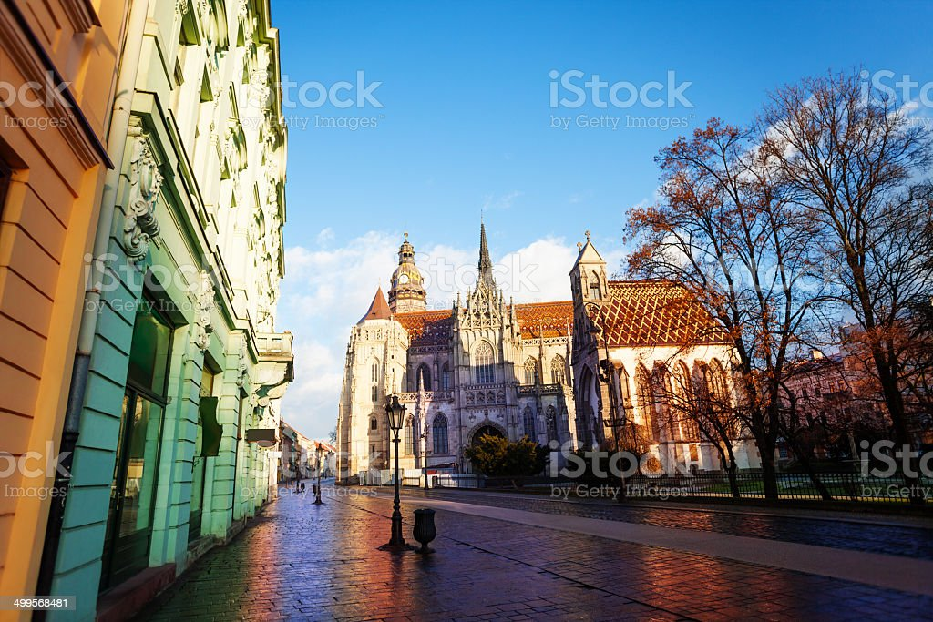 St Elisabeth cathedral in Kosice, Slovakia stock photo