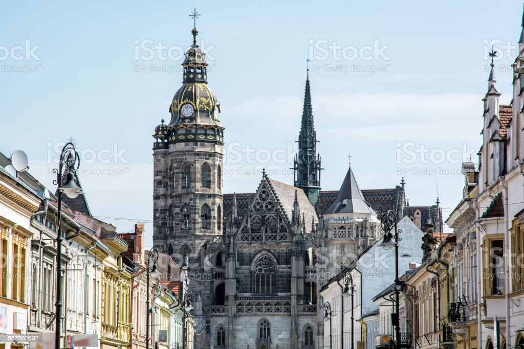 St. Elisabeth cathedral in Kosice, Slovakia stock photo