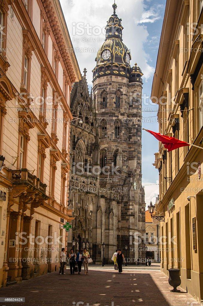 St. Elisabeth Cathedral stock photo