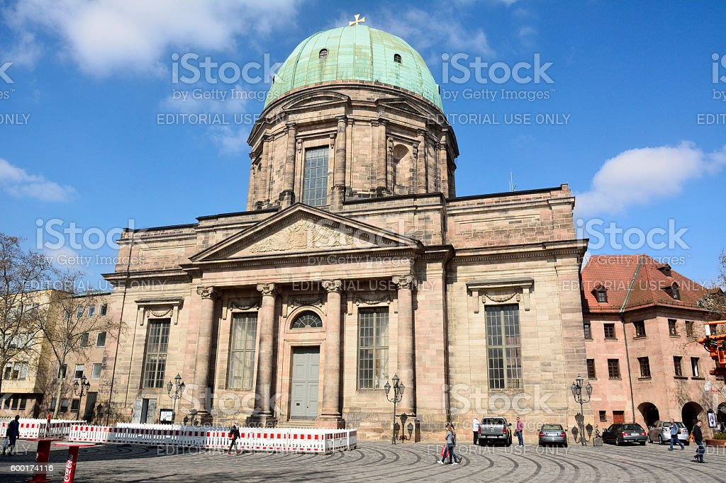 St Elisabethkirche church on Jakobspl square in Nuremberg stock photo