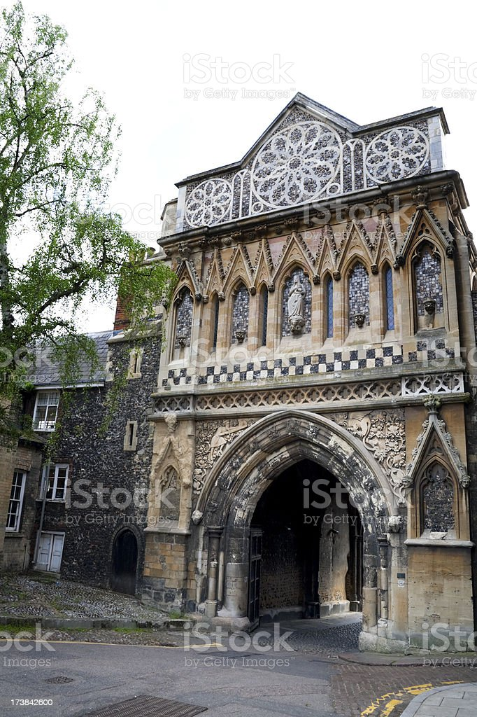 St Ethelbert's Gate, Norwich Cathedral royalty-free stock photo