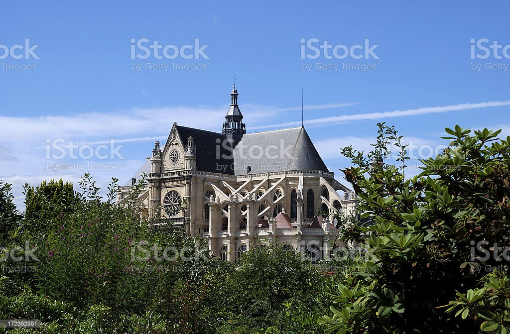 st. eustache, paris, cathedral royalty-free stock photo
